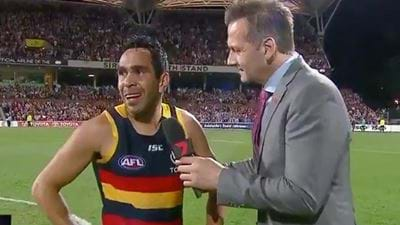 Eddie Betts Gives The Most Emotional Interview After Adelaide's Win