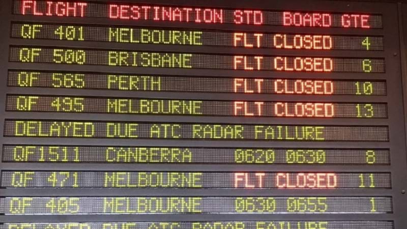 Sydney domestic departure flights delayed reportedly due to air traffic control system