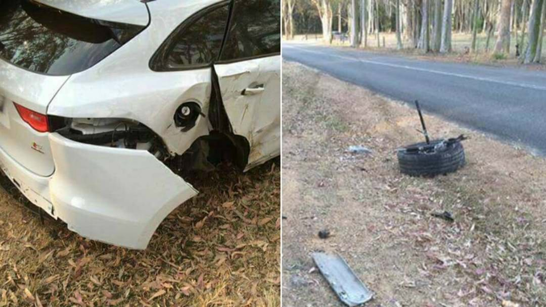 PHOTOS: Jaguar Driver Counting The Cost After Lake Macquarie Crash