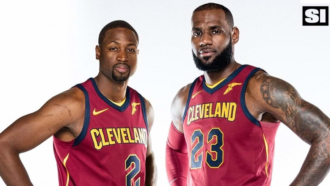 Dwyane Wade Reunites With LeBron James... In Cleveland
