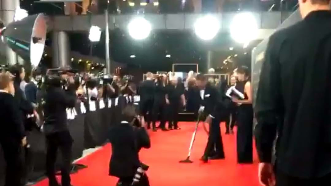 Sam Thaiday Spotted Vacuuming The Red Carpet At The Dally Ms