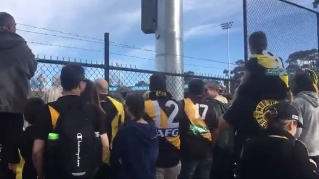 Tiger Army Overflow Open Training Session Onto Punt Road