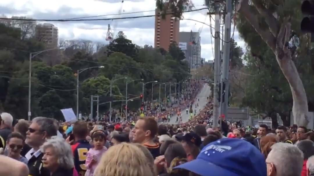 Huge Turnout For The Grand Final Parade