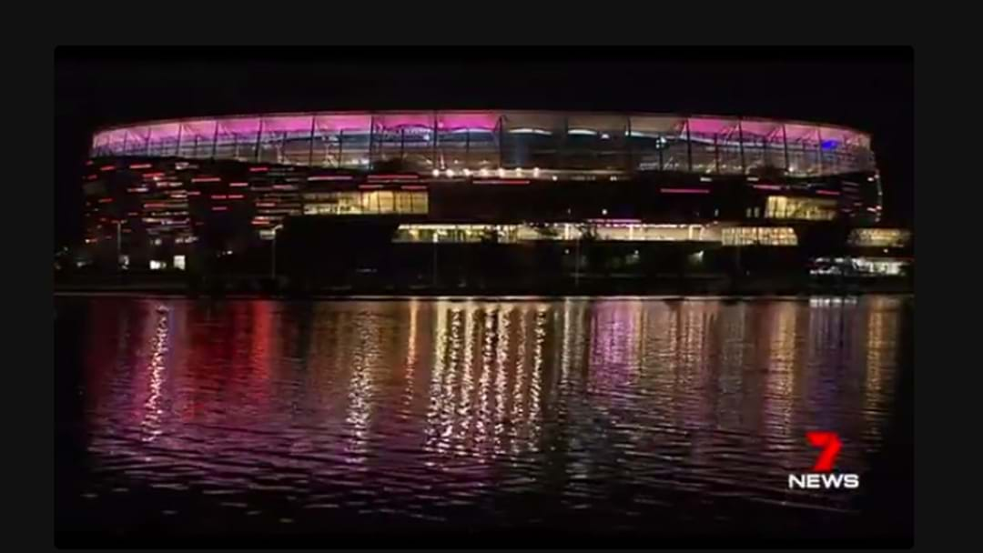 Perth Stadium's Awesome Light System Got An Australian Rocking Workout