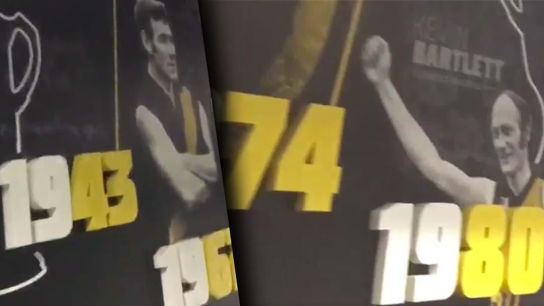 Richmond Premiership Artwork At Punt Road Updated Already