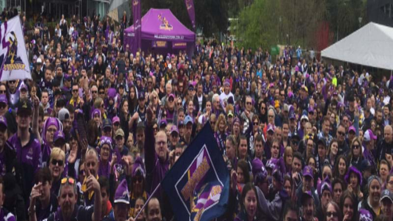 Article heading image for Thousands Pack Into Fed Square To Welcome Home The Storm