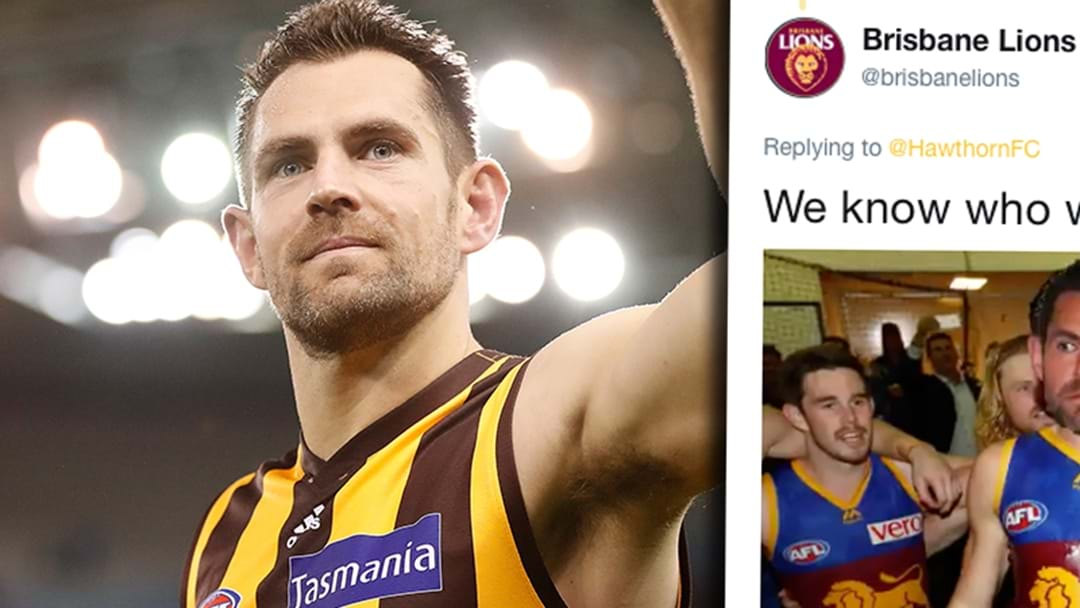 Brisbane's Teasing Hawthorn About The Luke Hodge News