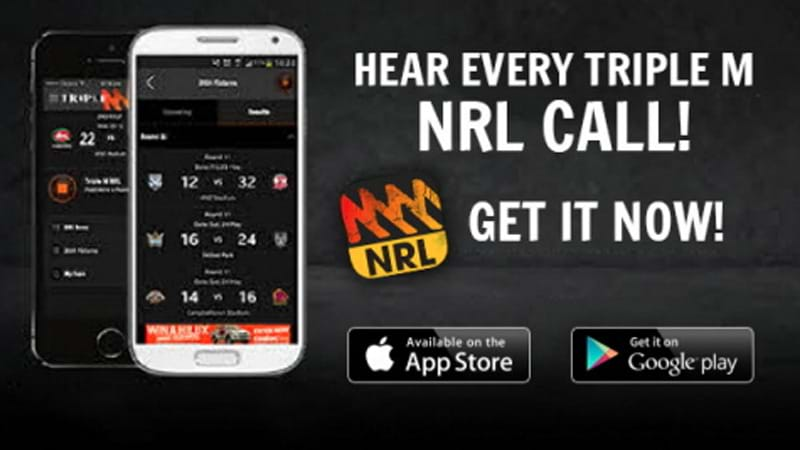 The Triple M NRL App - Available on iPhone and Android