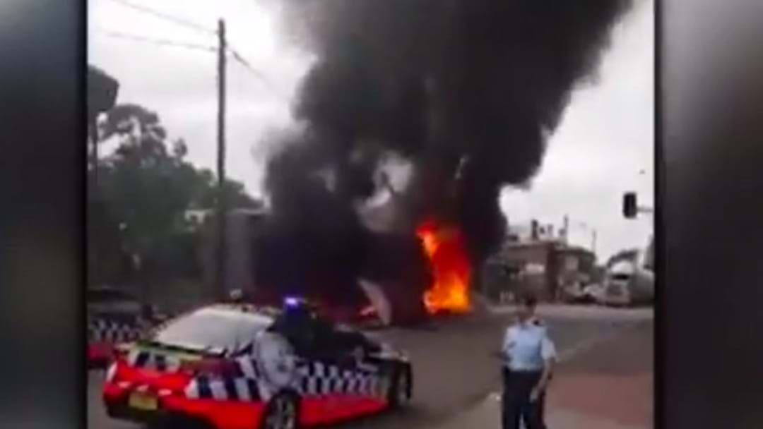 Footage Emerges Of The Singleton Truck Crash Aftermath
