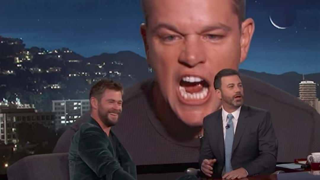 Matt Damon Invades Chris Hemsworth's Interview With Jimmy Kimmel