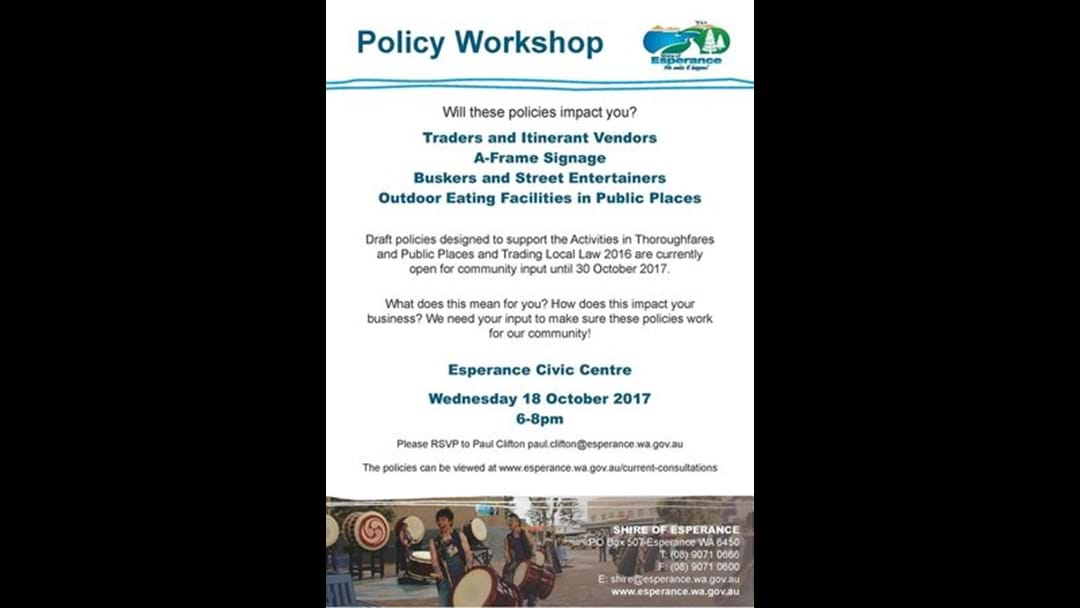 Policy Workshop