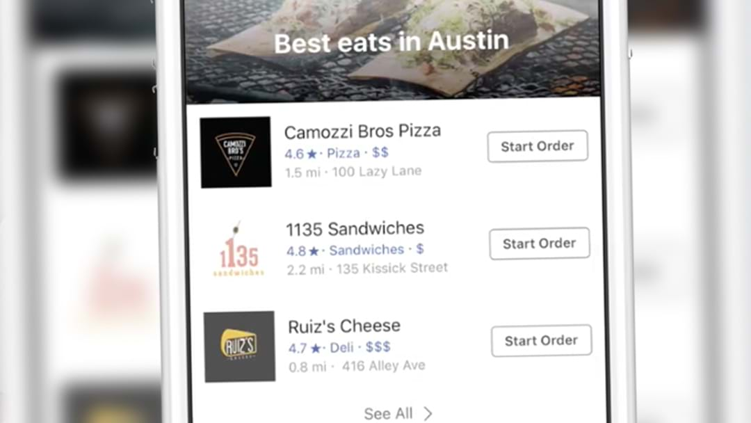 Facebook Has Launched An 'Order Food' Feature And It's A Game-Changer