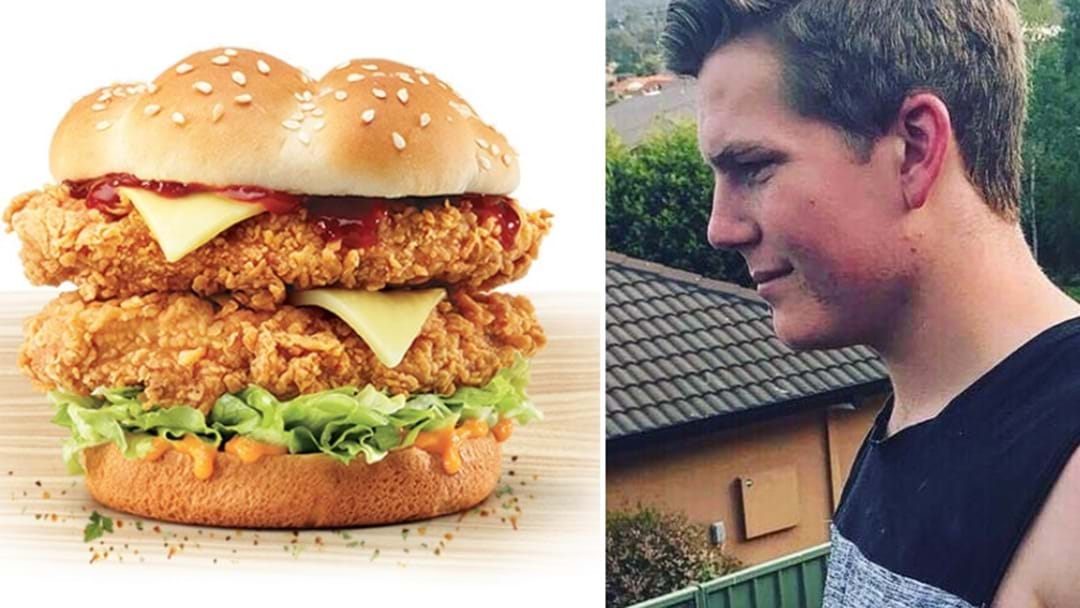 Aussie Bloke Gets Tattoo To Pledge His Undying Love For A KFC Burger