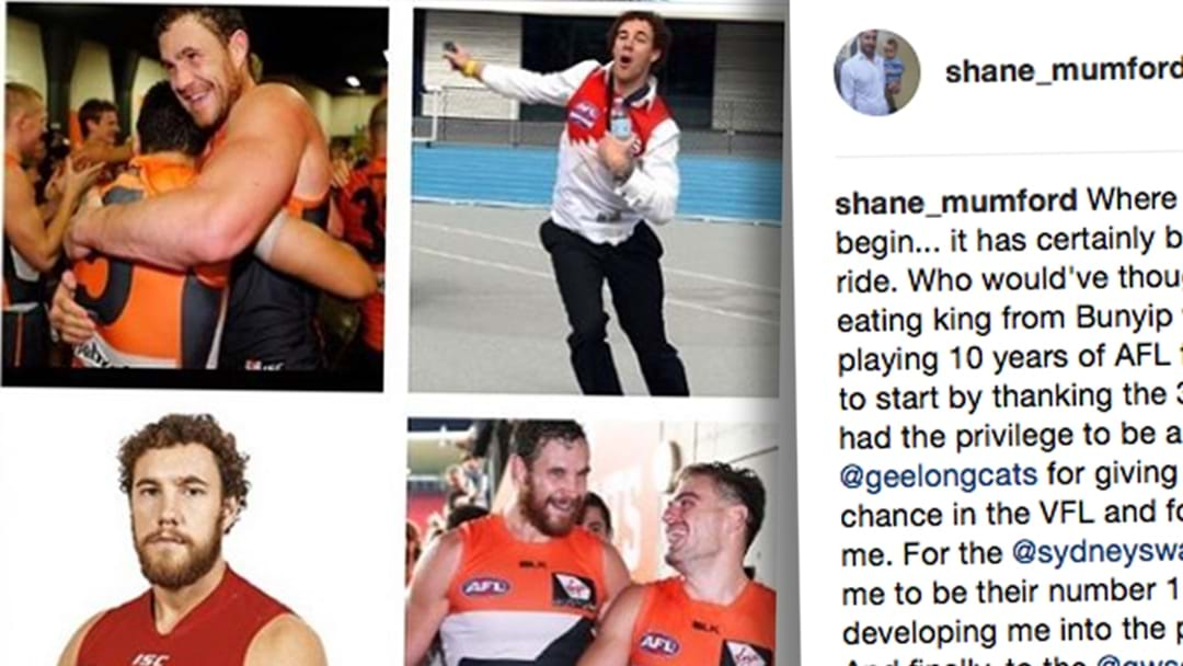 Shane Mumford's Brilliant Retirement Message On Instagram