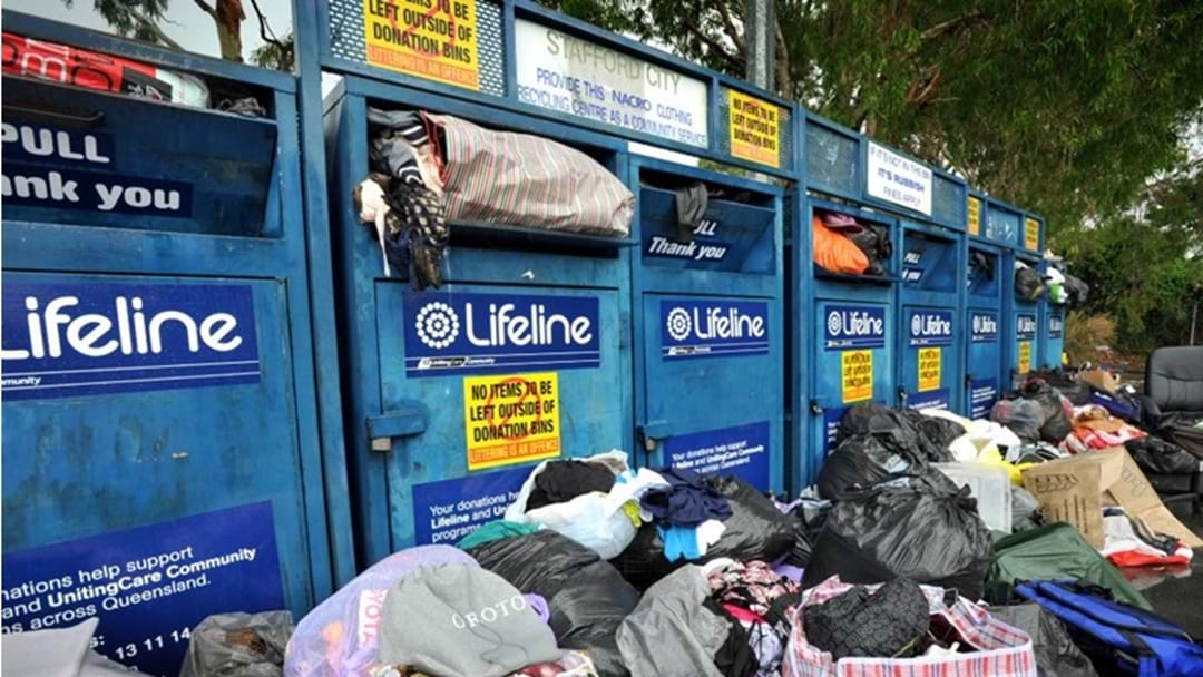 Charity Bins Being Used as Dumping Grounds