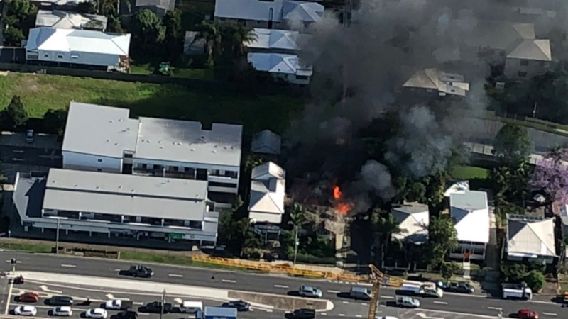 Article heading image for Crime Scene Declared After Abandoned Brisbane House Destroyed By Fire