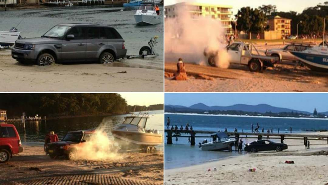 WATCH: Boaties Bogged At Popular Port Stephens Boat Ramp