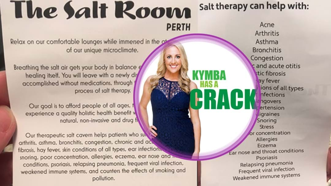 Kymba Has A Crack: Salt Treatment