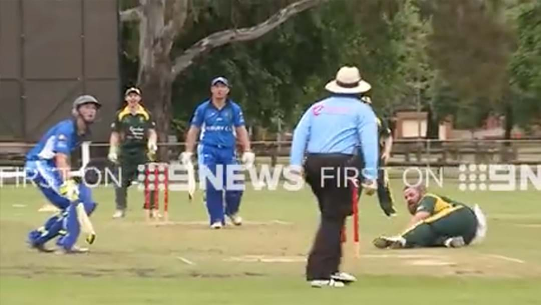 Local Cricketers Combine For An Absolute Belter Of A Catch