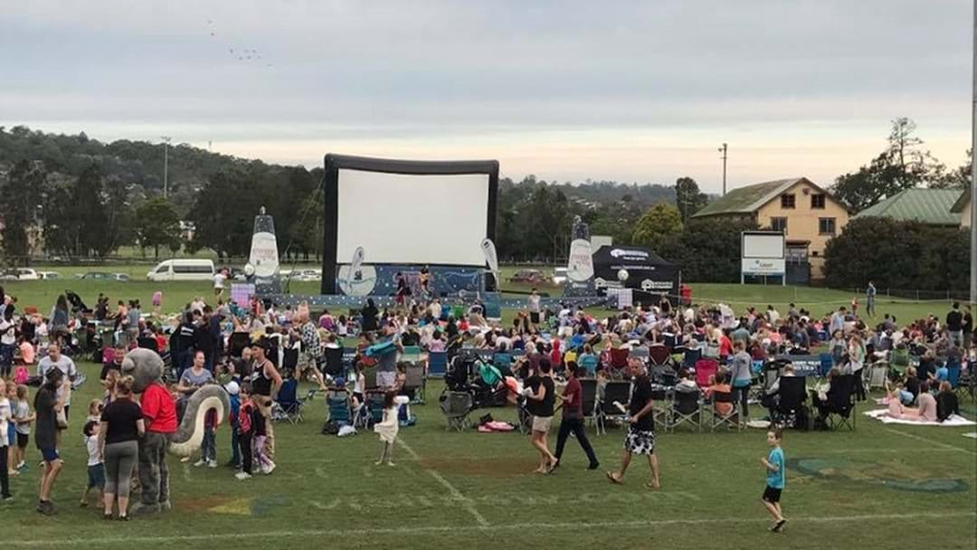 Cinema Under the Stars, at Sunset