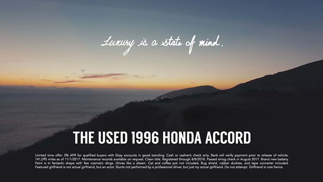A Bloke Made A Full On TV Ad To Help Sell His Girlfriend's 1996 Honda Accord