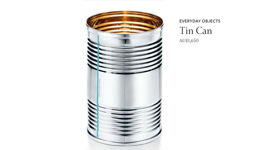 Tiffany & Co Is Selling A Tin Can For $1650