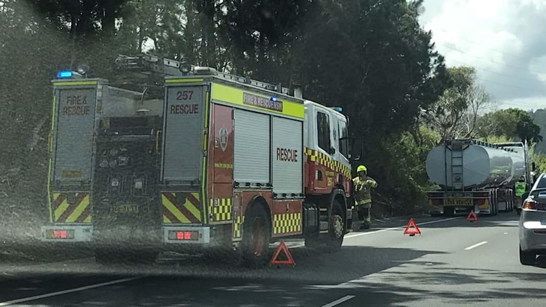 Firefighters at Coffs Harbour Truck Fire and Breakdown