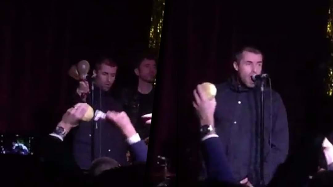 Liam Gallagher Had Someone Peeling A Potato At His Gig