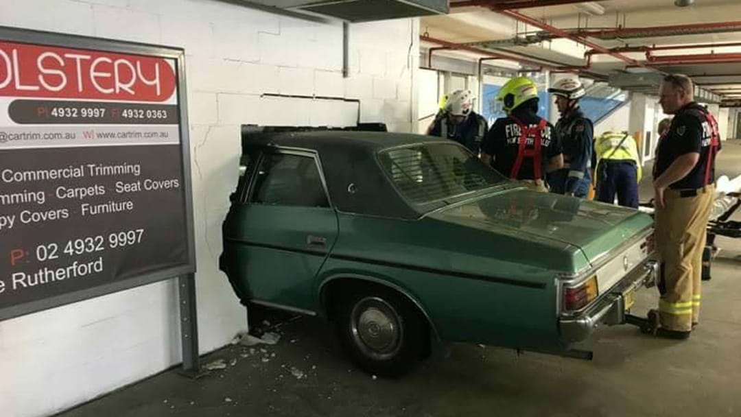 BREAKING: Car Crashes Into Rutherford Marketplace