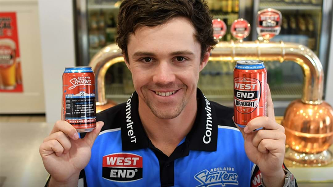 West End Draught Release Limited Edition Adelaide Strikers Tinnies