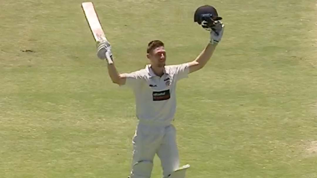 Cam Bancroft Brings Up A Huge Double Ton In The Sheffield Shield