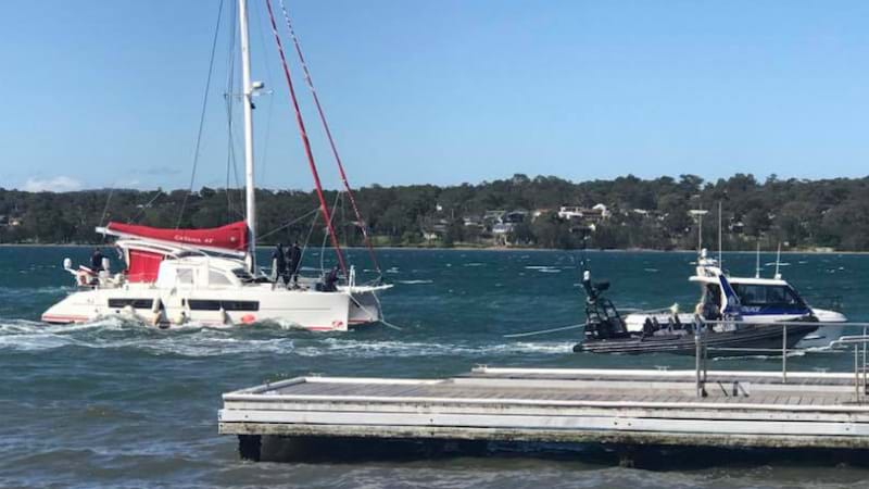 Three charged after cocaine-filled yacht intercepted in NSW