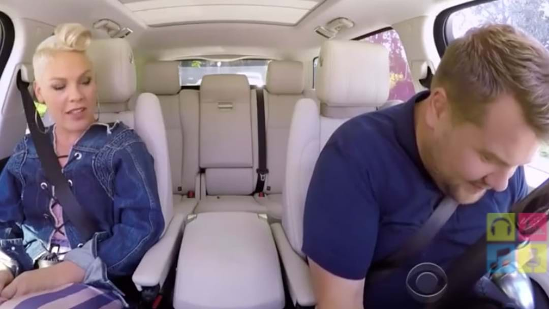 Finally... P!NK Hops In With James Corden And Carpool Karoake