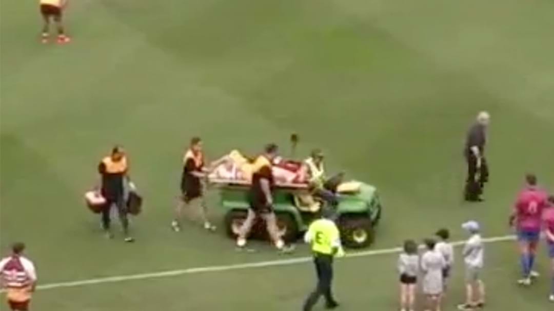 Former Bronco Stretchered From The Field in Legends Game