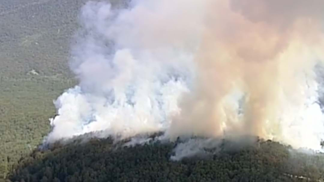 Fire Crews Tackling Huge Out-Of-Control Bushfire In Gembrook