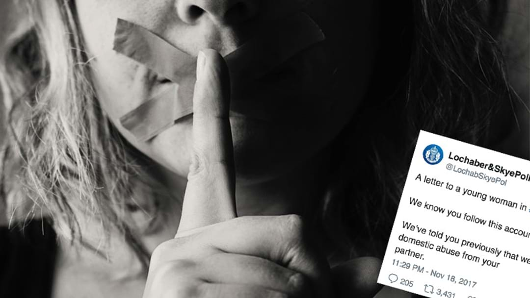 Police Tweet Emotional Open Letter To Victim Of Domestic Violence