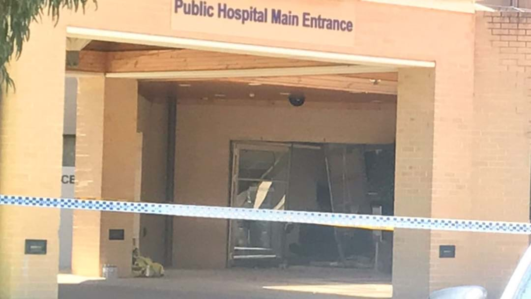 Drama At Joondalup Hospital As Car Slams Through Entrance