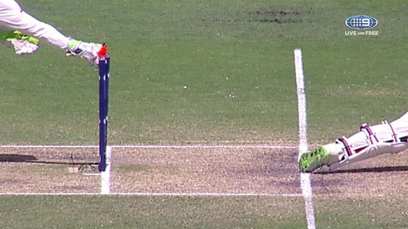 Moeen stumped in tight call at Gabba