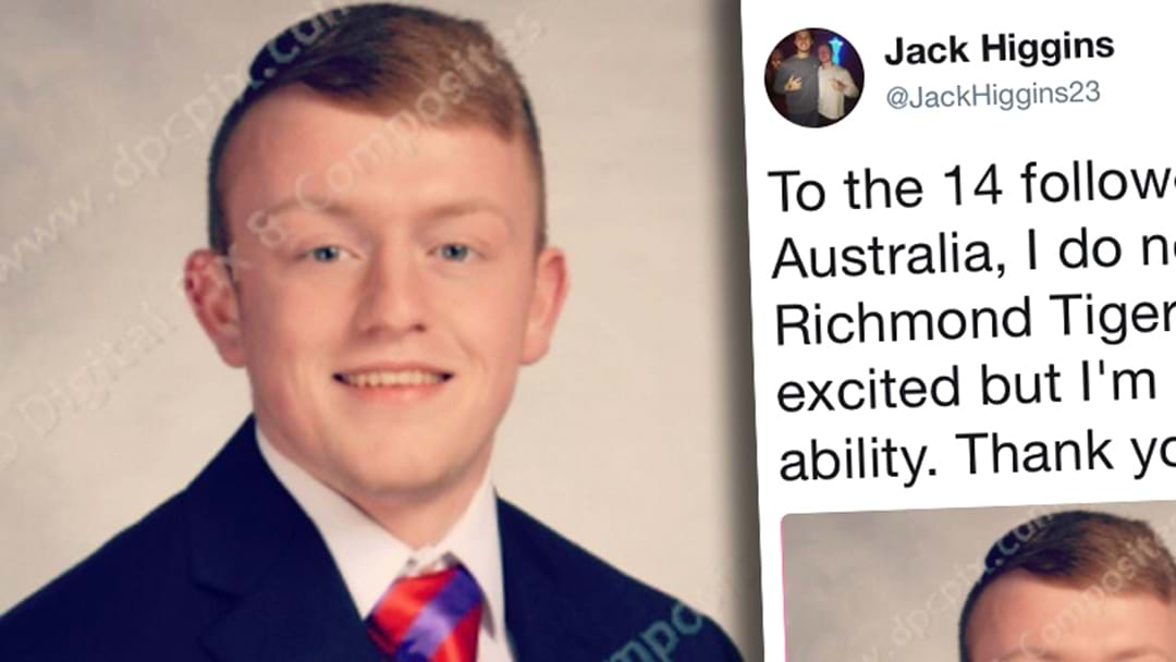 American Bloke Becomes Famous For Having The Same Name As A Richmond Draftee