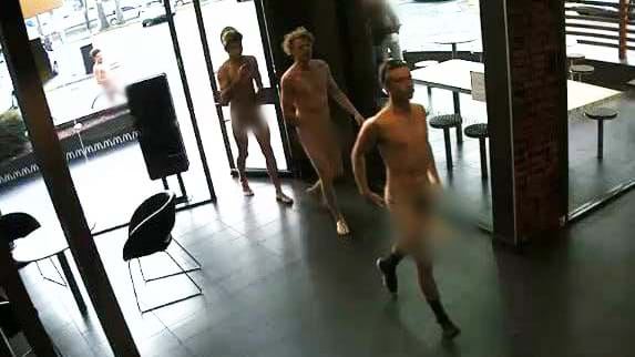 Police Are Hunting Five Men Who Did A Naked Maccas Run