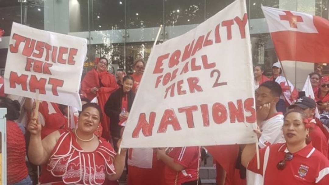 Tongan Rugby League Fans Protest In Sydney After Being Knocked Out Of World Cup