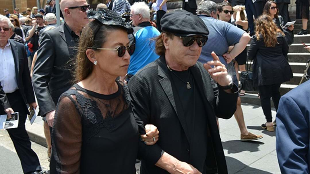 Brian Johnson Attends Malcolm Young's Funeral