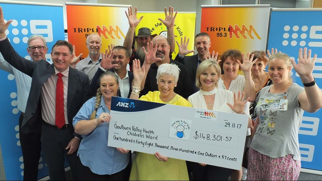 Triple M Goulburn Valley raises a record amount for Give Me Five for Kids in 2017