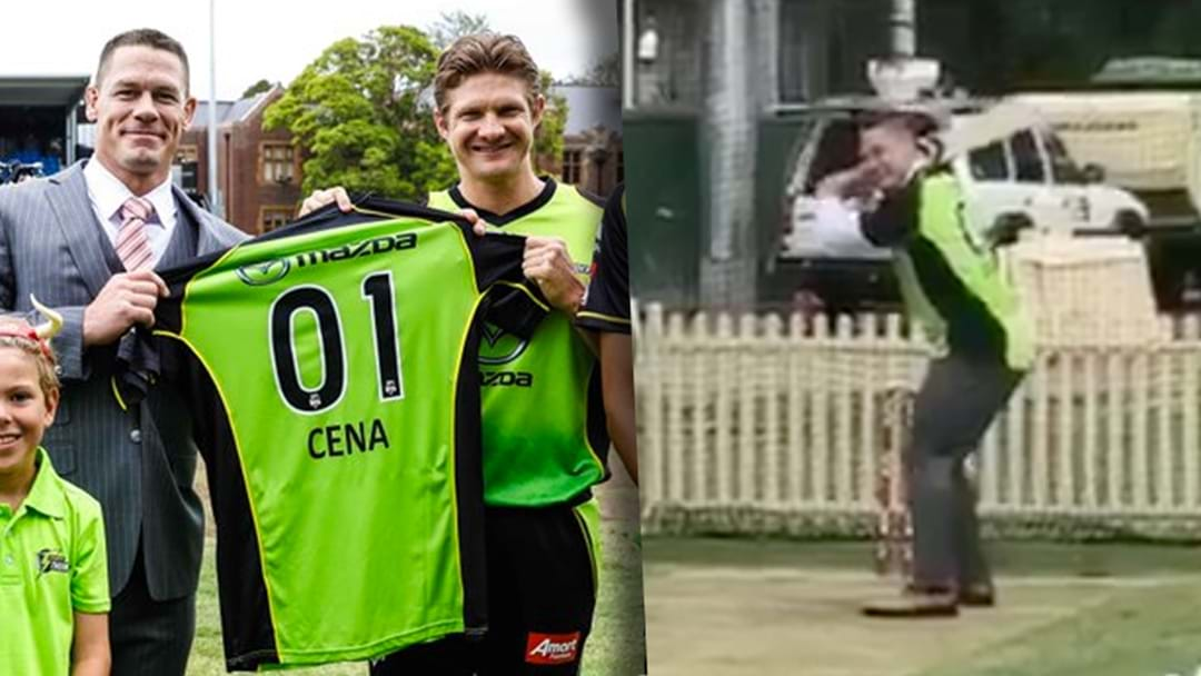 WWE Legend John Cena Tries Playing Cricket With A Big Bash Side