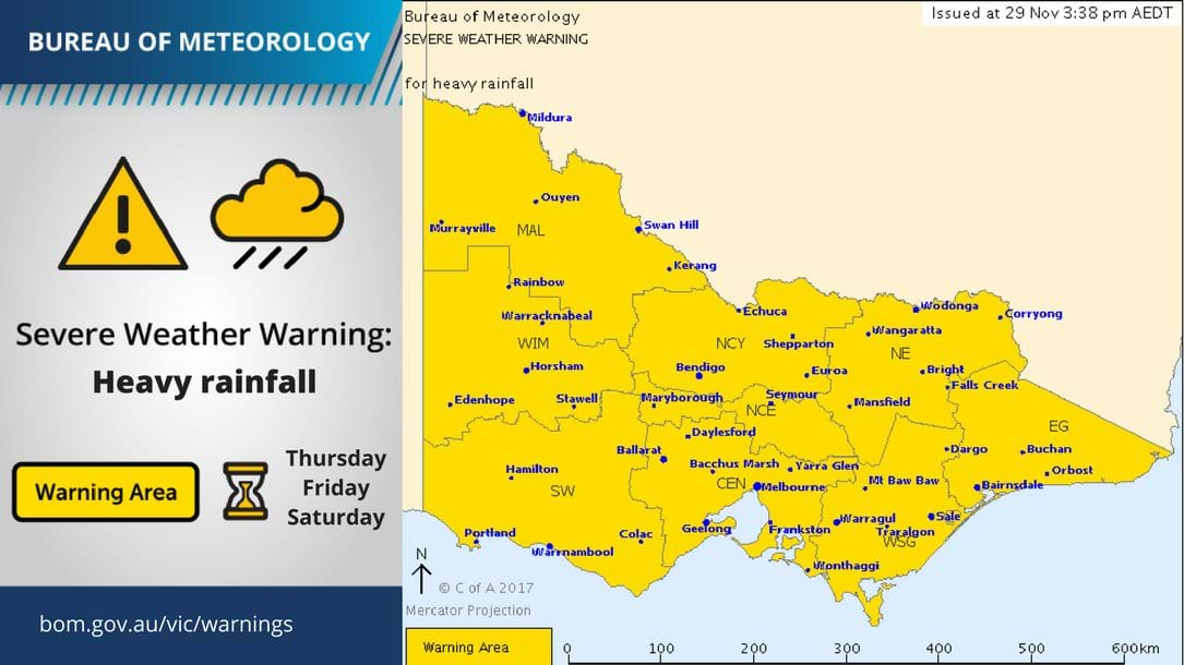 Severe-Weather Warnings for Melbourne