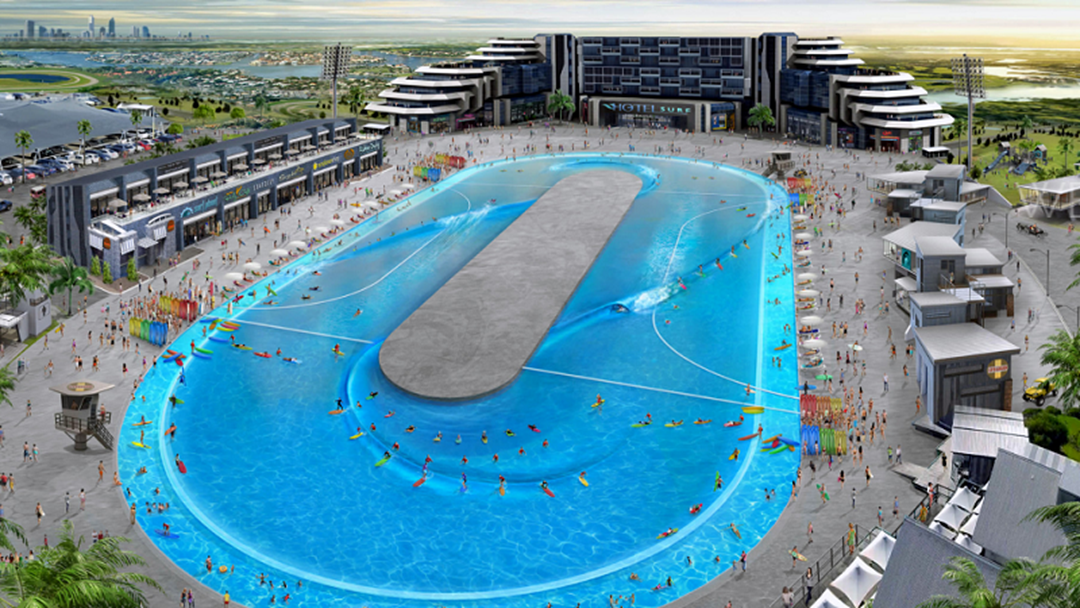 Gold coast wave pool to give kelly slater 39 s a run for its for Pool design gold coast