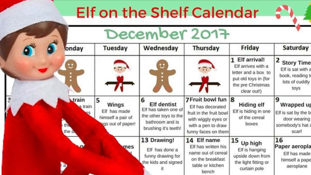 There's An Elf On The Shelf Calendar That Will Make Your Life That Much Easier