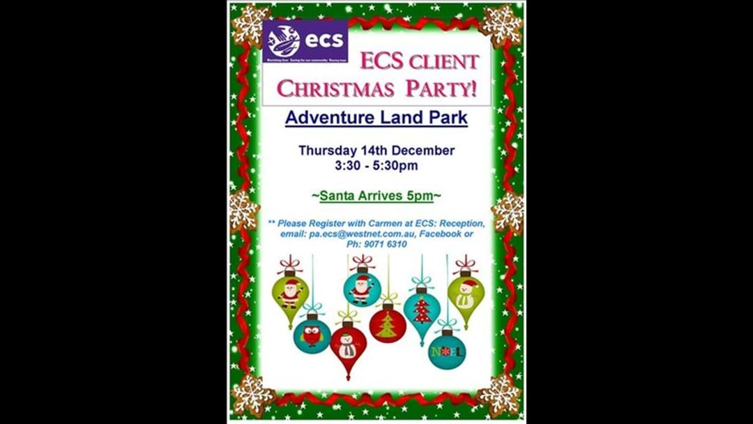 Esperance Care Services Client Christmas Party