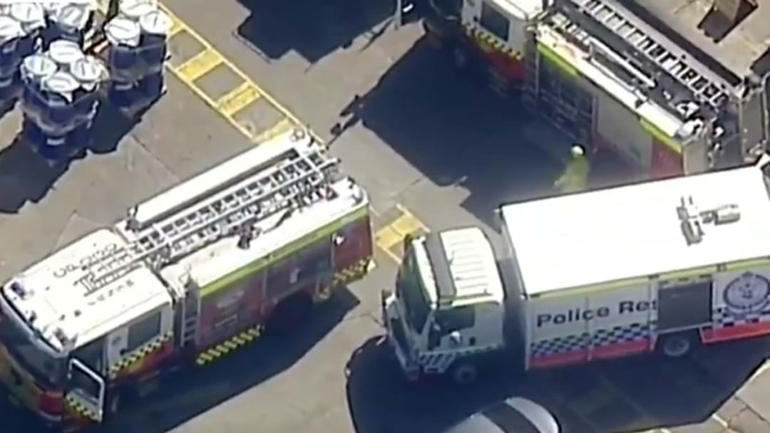 Emergency Services Trying To Rescue Two Men Trapped In Tank At Ink Factory