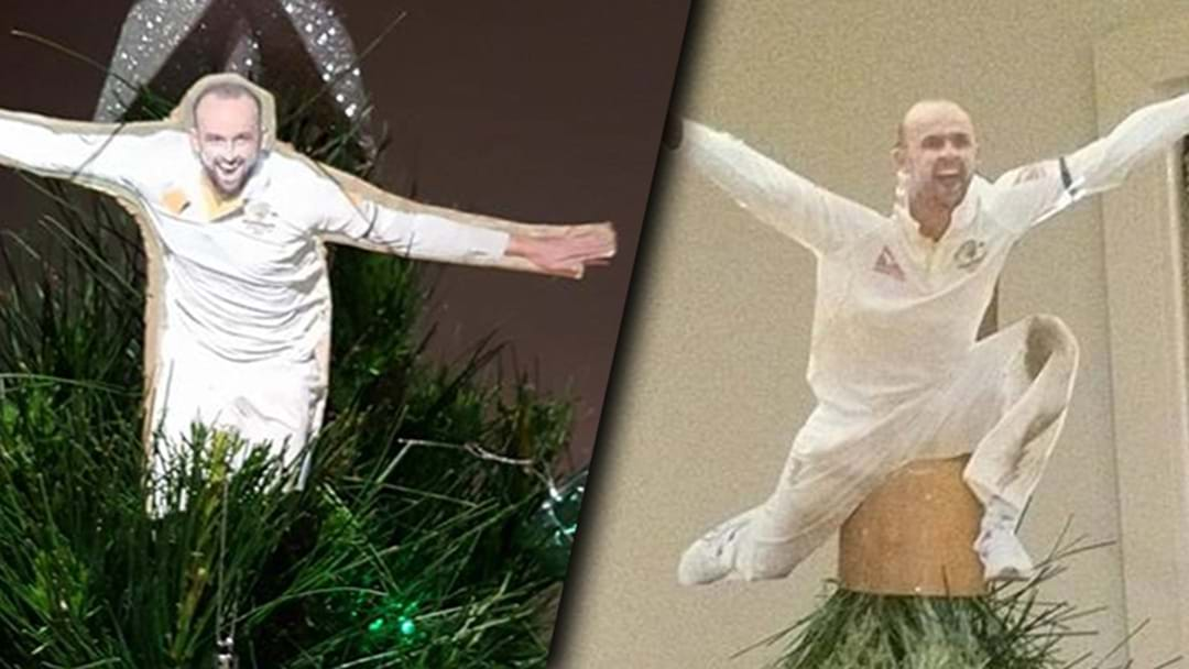 People Are Putting Nathan Lyon On The Top Of Their Christmas Trees